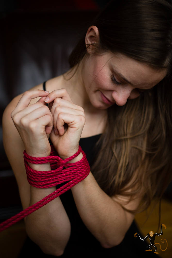 Step 5 - Wrap the working ends (loose tails) around the wrist in the opposite direction of the bight until you have used enough of your rope.