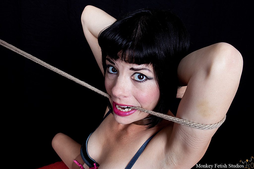 Step 10 - Wrap the rope around the arm and through the mouth.